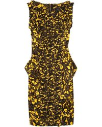 Thakoon | Yellow Rococco Batik-print Stretch-cotton Dress | Lyst