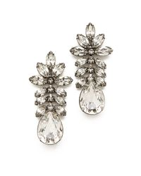 Tom Binns - Madame Dumont Earrings with White Crystals - Lyst