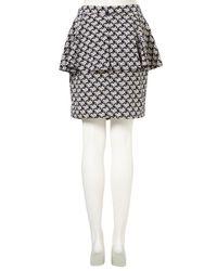 Topshop | Blue Navy Ditsy Floral Peplum Skirt | Lyst