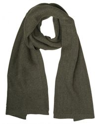 Dior Homme - Green Chevron Point Wool Alpaca Knit Scarf for Men - Lyst