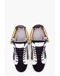 Giuseppe Zanotti   Multicolor August Colorblock Suede Sneakers   Lyst