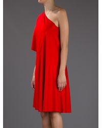 Givenchy   Red Asymmetrical Dress   Lyst
