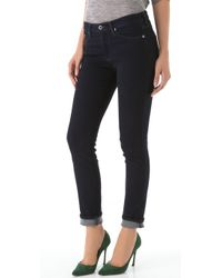 AG Jeans | Legging Ankle Jeans In Black Stretch Sateen | Lyst
