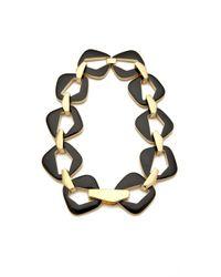 Belle Noel | Black Enameled Modernista Necklace | Lyst