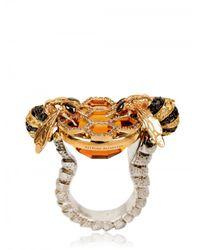Delfina Delettrez - Metallic Bees Cocktail Ring - Lyst
