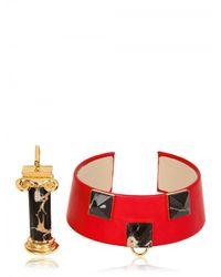 Delfina Delettrez - Red Column Collar Necklace - Lyst