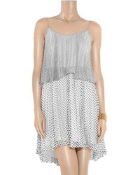 Halston   Black Polka-dot Silk-chiffon Dress   Lyst