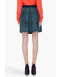Proenza Schouler | Blue Green Indigo Tweed Skirt | Lyst