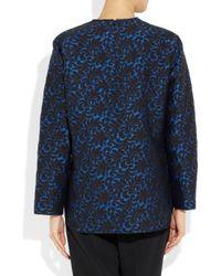 Stella McCartney | Blue Brocade Jacquard Top | Lyst