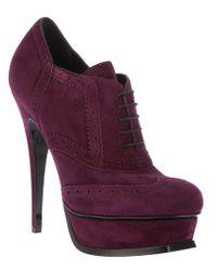 Saint Laurent | Purple Tribute Ankle Boot | Lyst