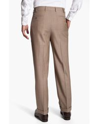 Zanella | Natural Bennett Pleated Trousers for Men | Lyst
