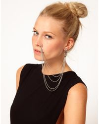 ASOS | Metallic Nose Chain Earring | Lyst