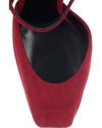 Dolce & Gabbana - Red Suede Platform Sandals - Lyst