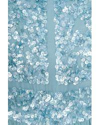 Elie Saab - Blue Beaded Top Silk Gown - Lyst
