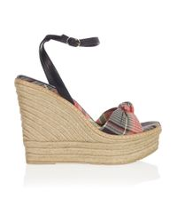 Ralph Lauren Collection - Multicolor Fistina Espadrille Wedge Sandals - Lyst