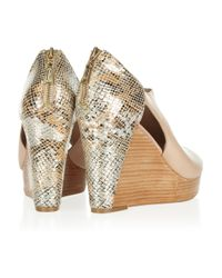 Rebecca Minkoff | Natural Trott Snakeeffect Leather Wedges | Lyst