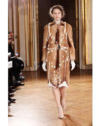 Revillon | Brown Maxi Coat in Short Haired Natural Antilop Fur | Lyst
