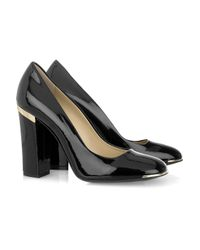 Stella McCartney | Black Faux Patent-leather Pumps | Lyst