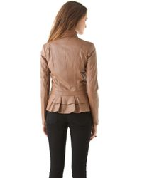 Alice By Temperley - Brown Page Leather Jacket - Lyst
