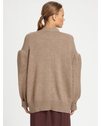 A Detacher - Natural Alpaca Cardigan - Lyst
