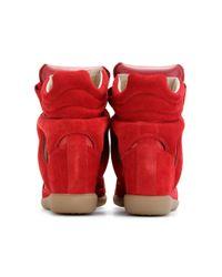 Isabel Marant | Red Bekett Suede Wedge Sneakers | Lyst