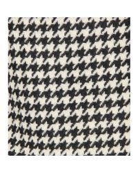 Jil Sander | Black Houndstooth Tweed Skirt | Lyst