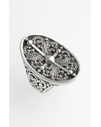 Lois Hill | Metallic Haveli Granulated Saddle Ring | Lyst