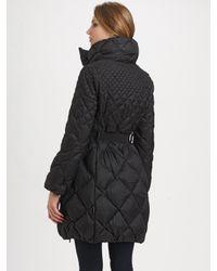 Moncler - Black Belted Quilted Jacket - Lyst