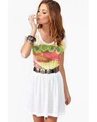 Nasty Gal - White Burger Dress - Lyst