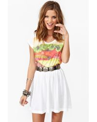 Nasty Gal - White Burger Dress - Lyst