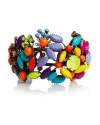 Tom Binns   Multicolor Riri Swarovski Crystal Cuff   Lyst