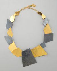 Herve Van Der Straeten - Metallic Angular Square Necklace - Lyst