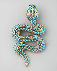 Kenneth Jay Lane | Blue Snake Pin | Lyst