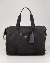 Prada   Black Soft Duffel Bag for Men   Lyst