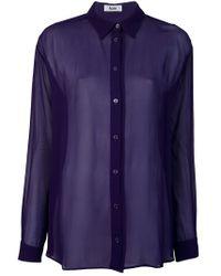 Acne | Purple Shining Blouse | Lyst