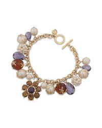Carolee - Metallic 12k Gold Plated Charm Bracelet - Lyst