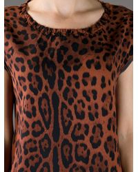 Dolce & Gabbana | Animal Leopard Print Top | Lyst