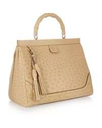 Gucci | Natural Ostrichleather Tote | Lyst