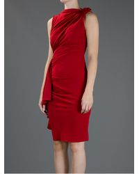 Lanvin | Red Sleeveless Dress | Lyst