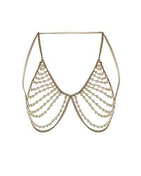 TOPSHOP | Metallic Pearl Bra Body Cover | Lyst