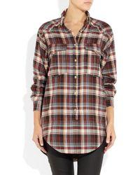 Étoile Isabel Marant | Multicolor Madoc Oversized Cotton Plaid Shirt | Lyst