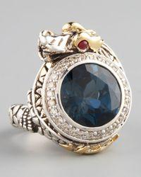 John Hardy | Metallic London Blue Topaz Dragon Ring Small | Lyst