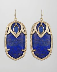 Kendra Scott - Darby Peacock Earrings Blue - Lyst