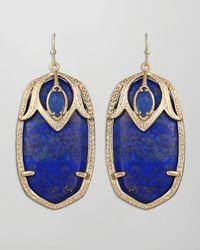 Kendra Scott | Darby Peacock Earrings Blue | Lyst