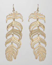 Kendra Scott - Metallic Large Feather Earrings - Lyst