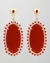Kendra Scott | Dalton Earrings Red Onyx | Lyst