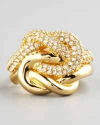 Rachel Zoe | Metallic Love Me Knot Ring | Lyst
