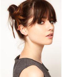 Maria Francesca Pepe - Metallic Crystal Stud Ear Cuff - Lyst