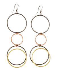 Lana Jewelry - Metallic Mixed Metal Hoop Earrings - Lyst