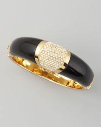 Rachel Zoe | Black Domed Deco Bracelet | Lyst